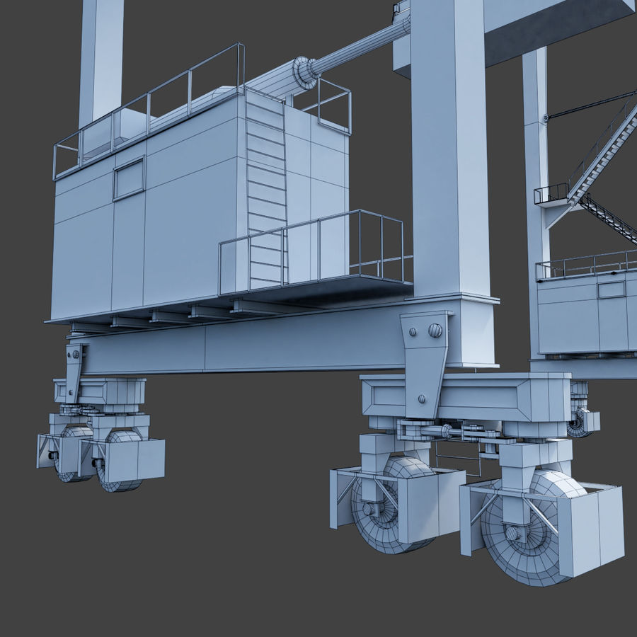 Crane royalty-free 3d model - Preview no. 24
