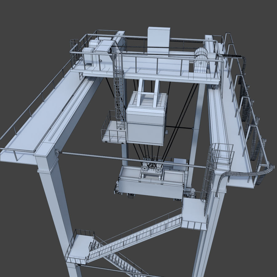Crane royalty-free 3d model - Preview no. 22