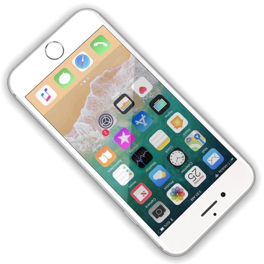 Apple iPhone 8 Gümüş royalty-free 3d model - Preview no. 8