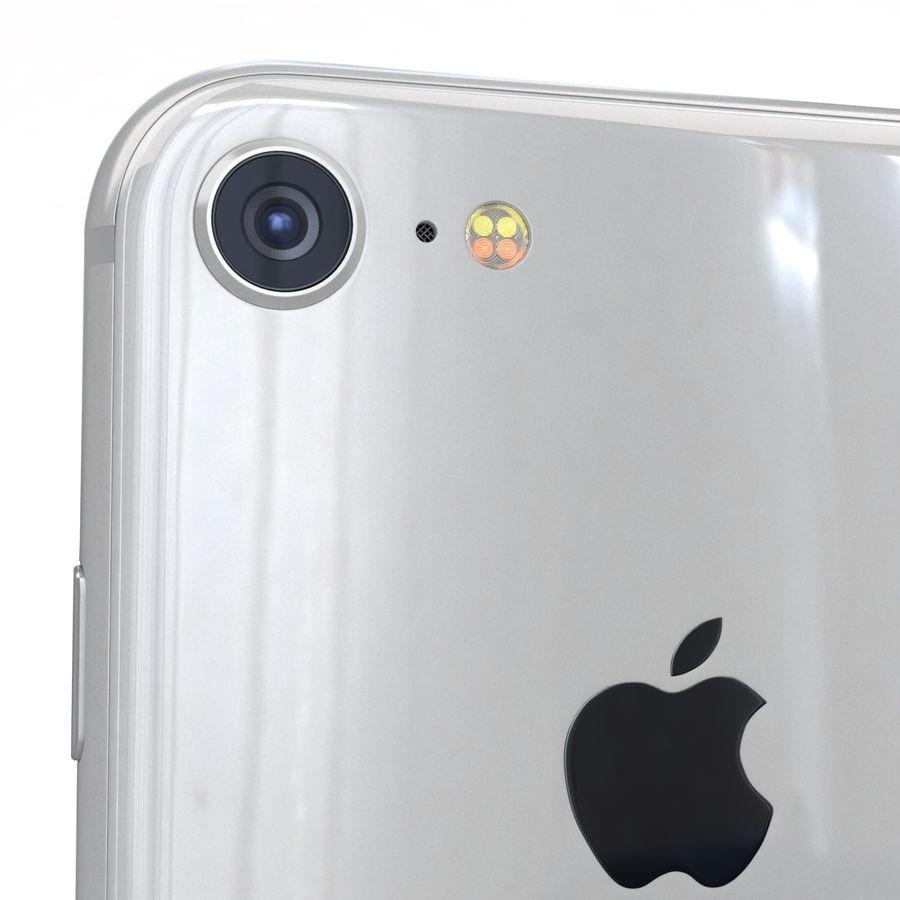 Apple iPhone 8 Gümüş royalty-free 3d model - Preview no. 20