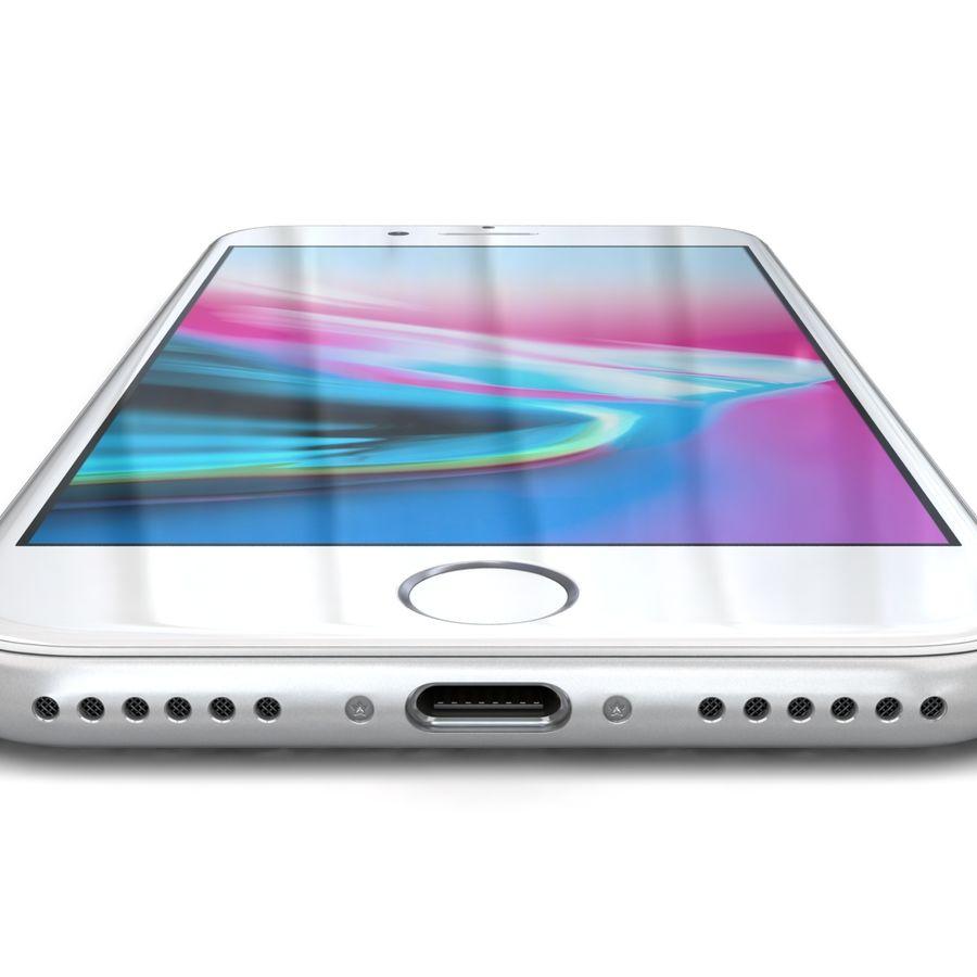 Apple iPhone 8 Gümüş royalty-free 3d model - Preview no. 16