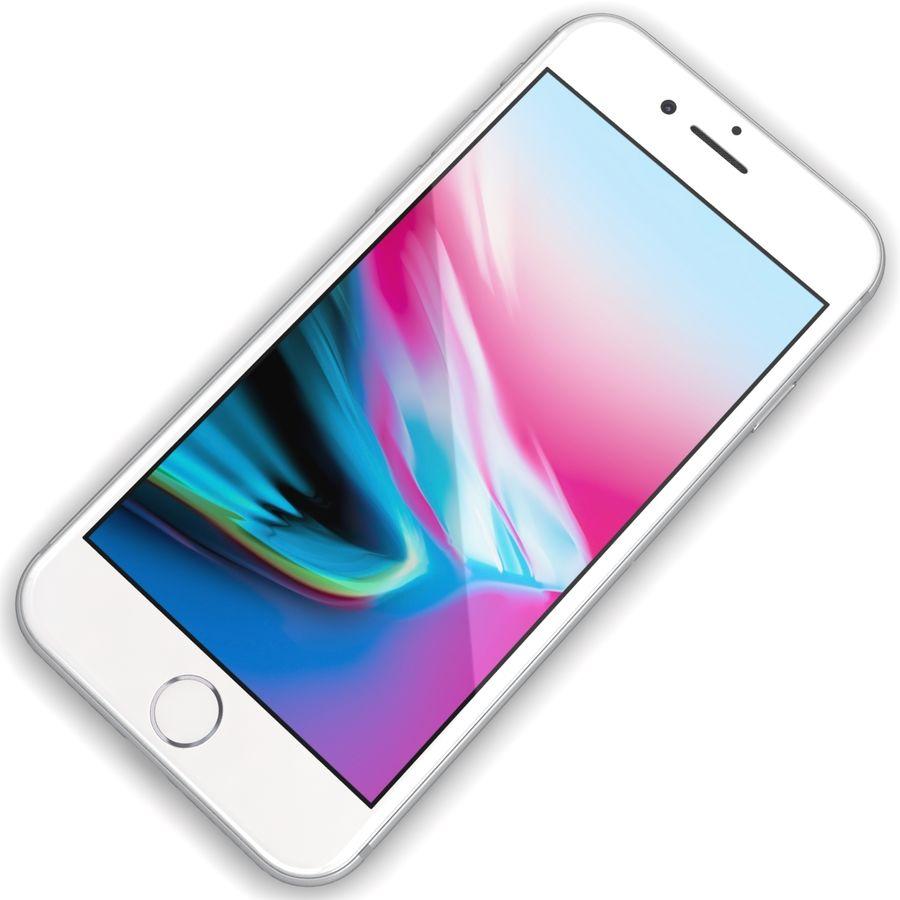 Apple iPhone 8 Gümüş royalty-free 3d model - Preview no. 7