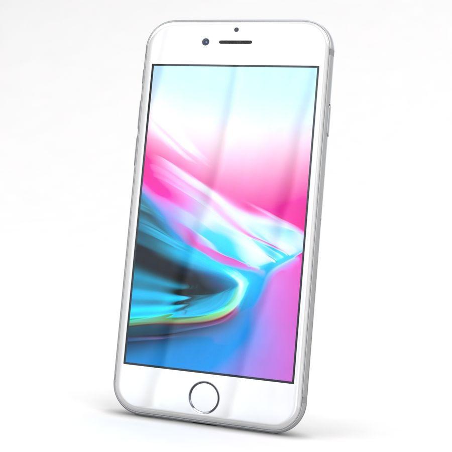 Apple iPhone 8 Gümüş royalty-free 3d model - Preview no. 3