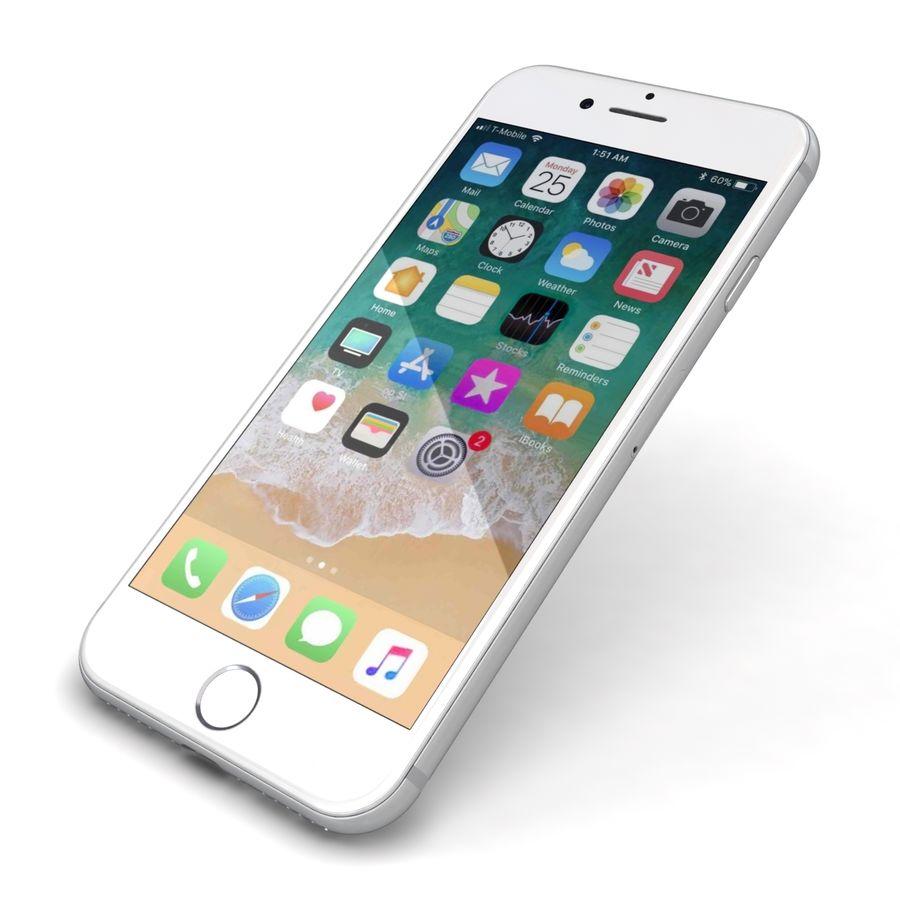 Apple iPhone 8 Gümüş royalty-free 3d model - Preview no. 22