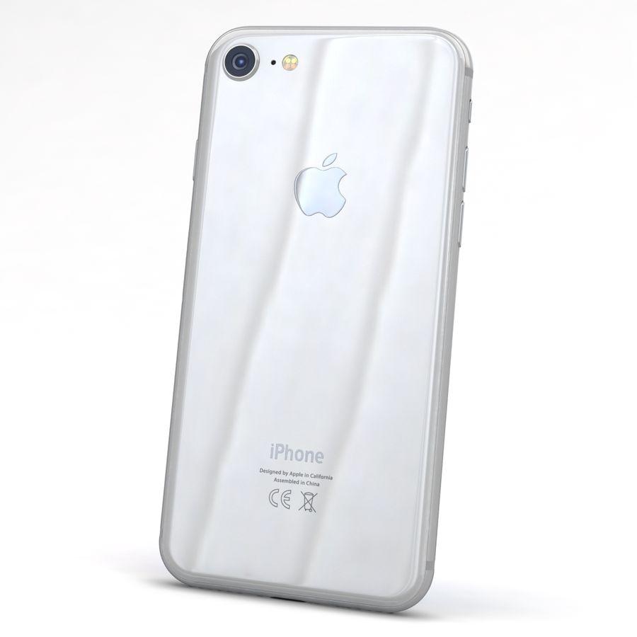 Apple iPhone 8 Gümüş royalty-free 3d model - Preview no. 5