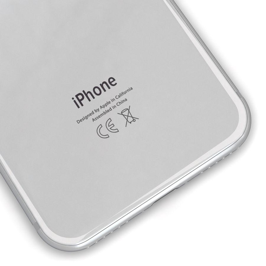Apple iPhone 8 Gümüş royalty-free 3d model - Preview no. 13