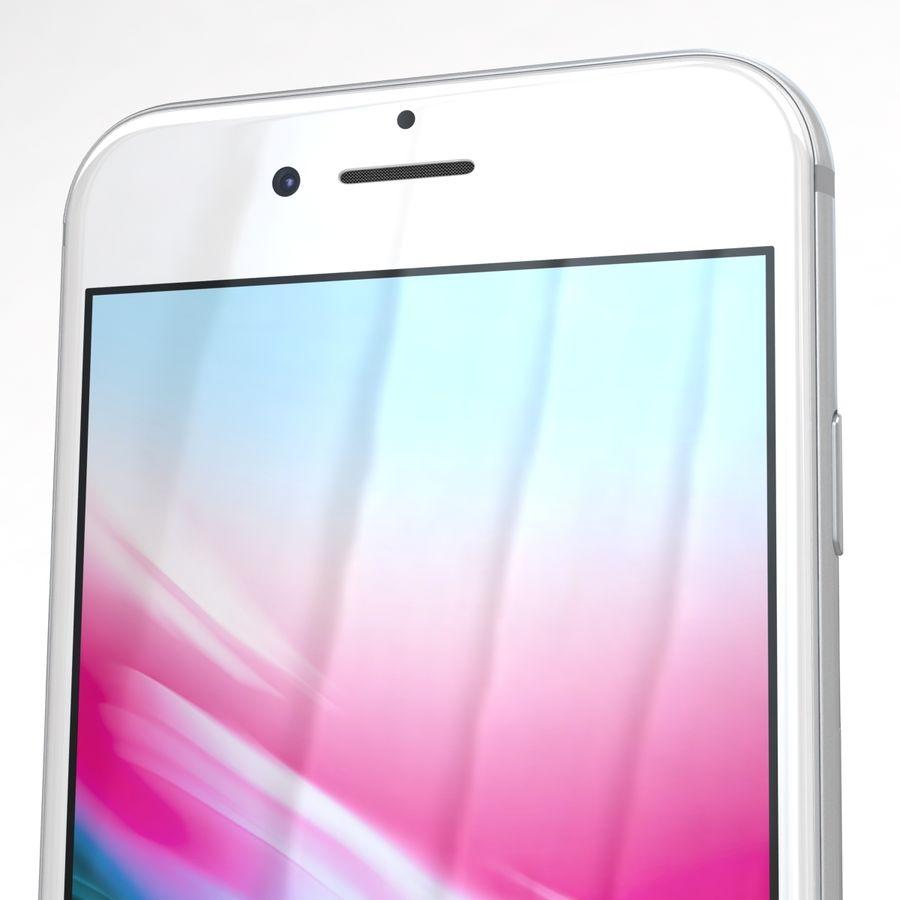 Apple iPhone 8 Gümüş royalty-free 3d model - Preview no. 25