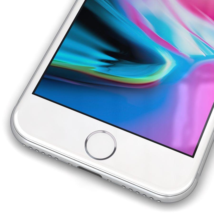 Apple iPhone 8 Gümüş royalty-free 3d model - Preview no. 9