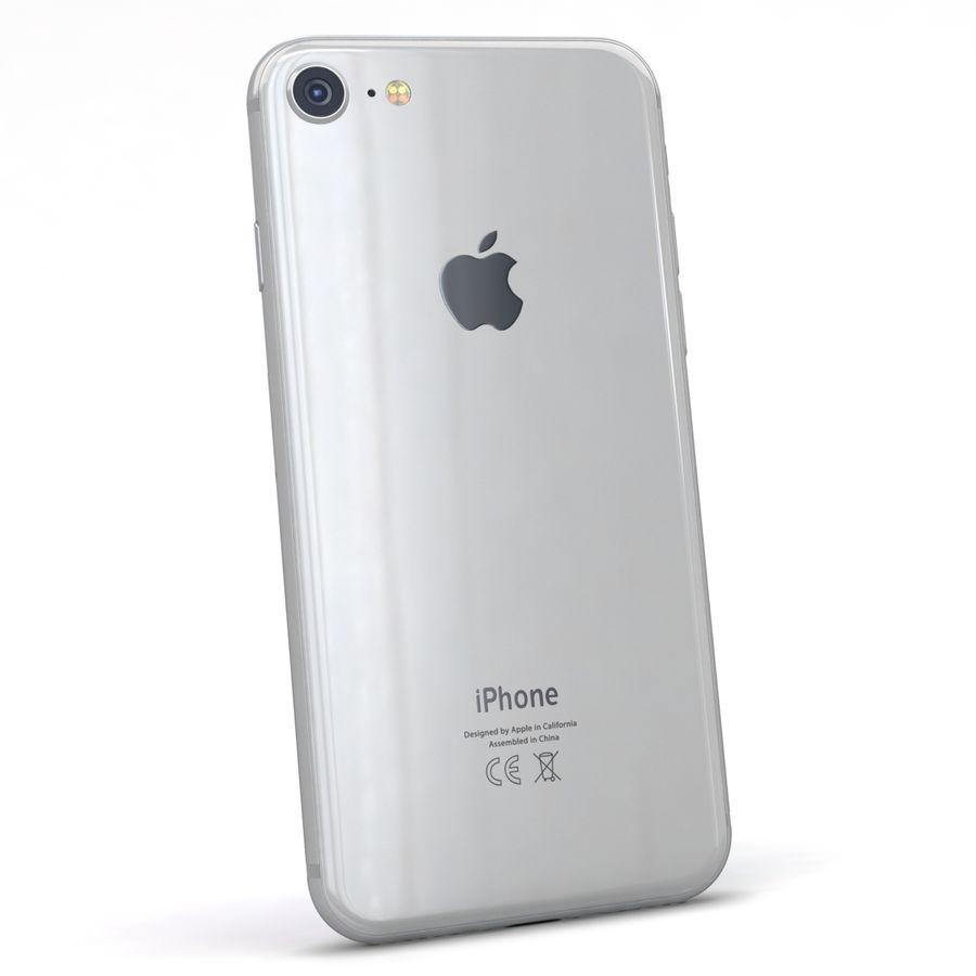 Apple iPhone 8 Gümüş royalty-free 3d model - Preview no. 6