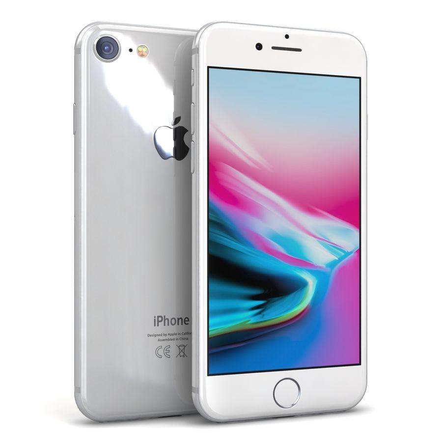 Apple iPhone 8 Gümüş royalty-free 3d model - Preview no. 2