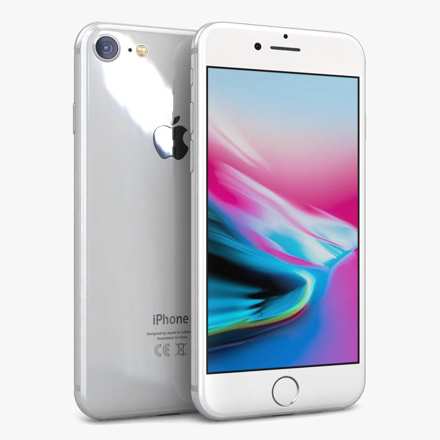 Apple iPhone 8 Gümüş royalty-free 3d model - Preview no. 1