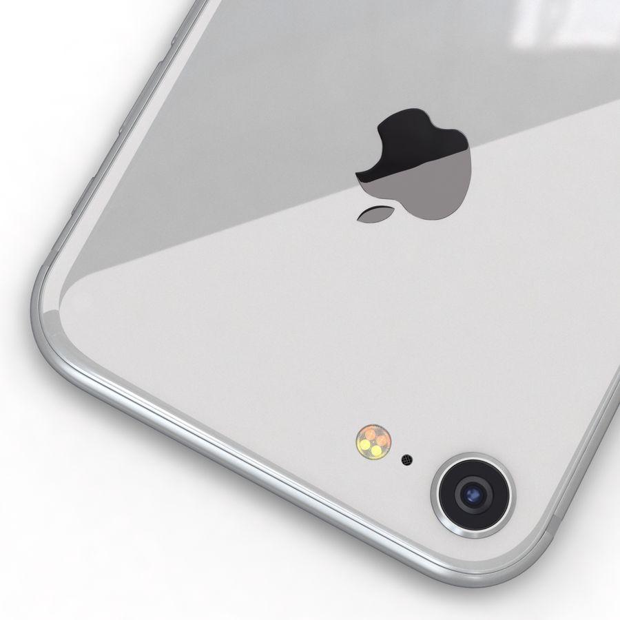 Apple iPhone 8 Gümüş royalty-free 3d model - Preview no. 14