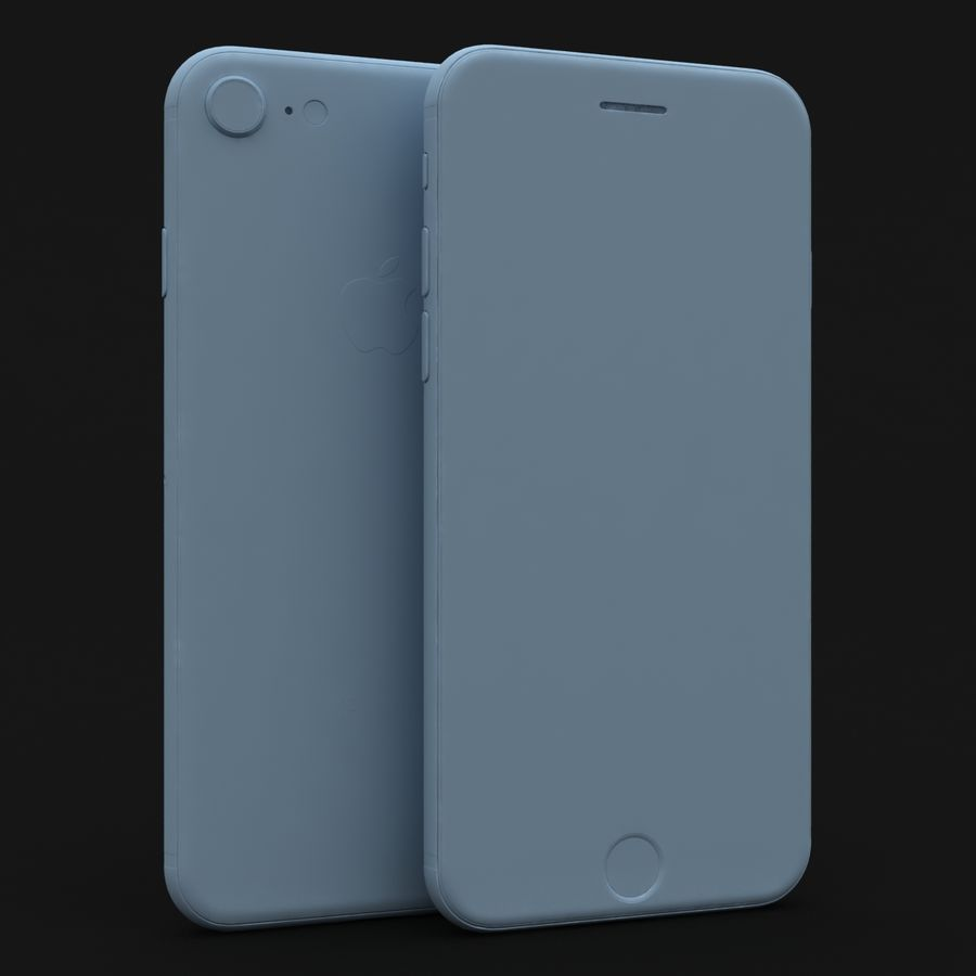 Apple iPhone 8 Gümüş royalty-free 3d model - Preview no. 27