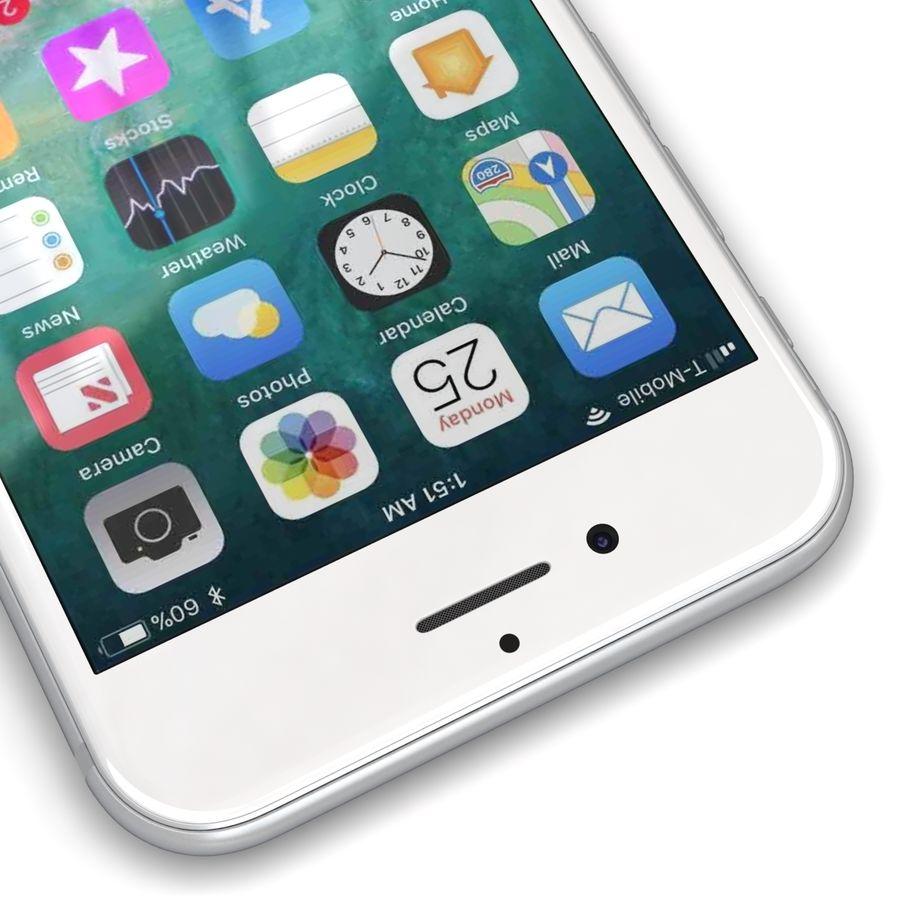 Apple iPhone 8 Gümüş royalty-free 3d model - Preview no. 10