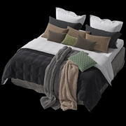 Realistisk säng 3d model