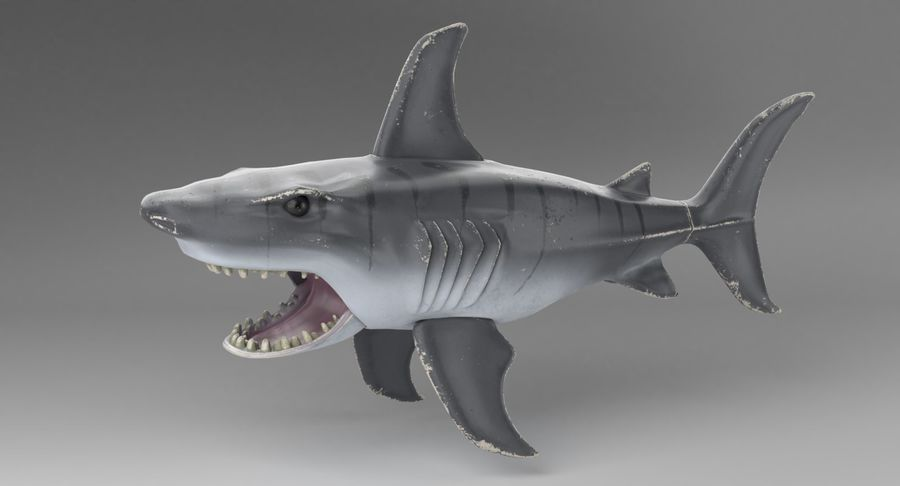 Toy Shark royalty-free 3d model - Preview no. 3