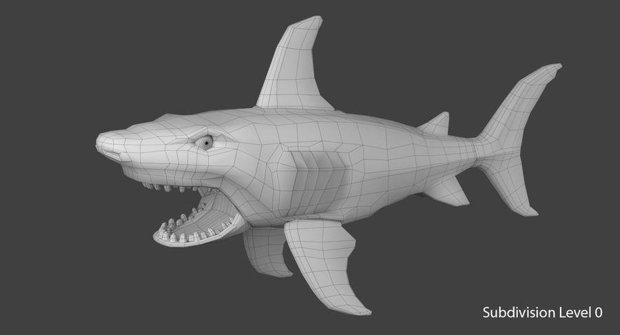 Toy Shark royalty-free 3d model - Preview no. 10