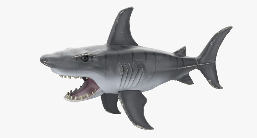 Toy Shark royalty-free 3d model - Preview no. 2