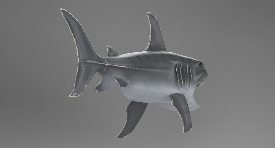 Toy Shark royalty-free 3d model - Preview no. 6