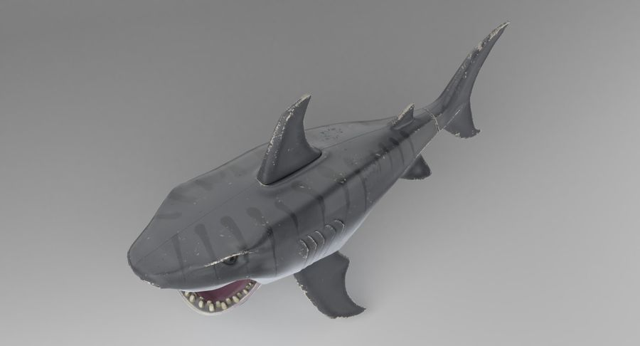 Toy Shark royalty-free 3d model - Preview no. 4