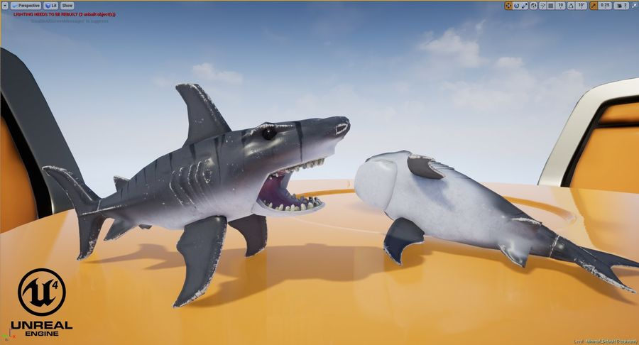 Toy Shark royalty-free 3d model - Preview no. 18