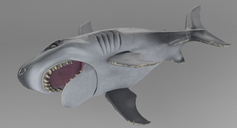 Toy Shark royalty-free 3d model - Preview no. 7