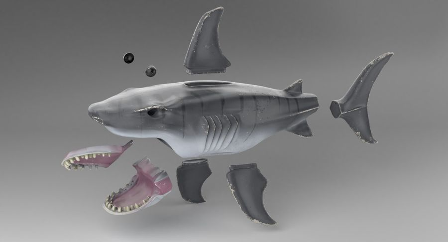 Toy Shark royalty-free 3d model - Preview no. 17