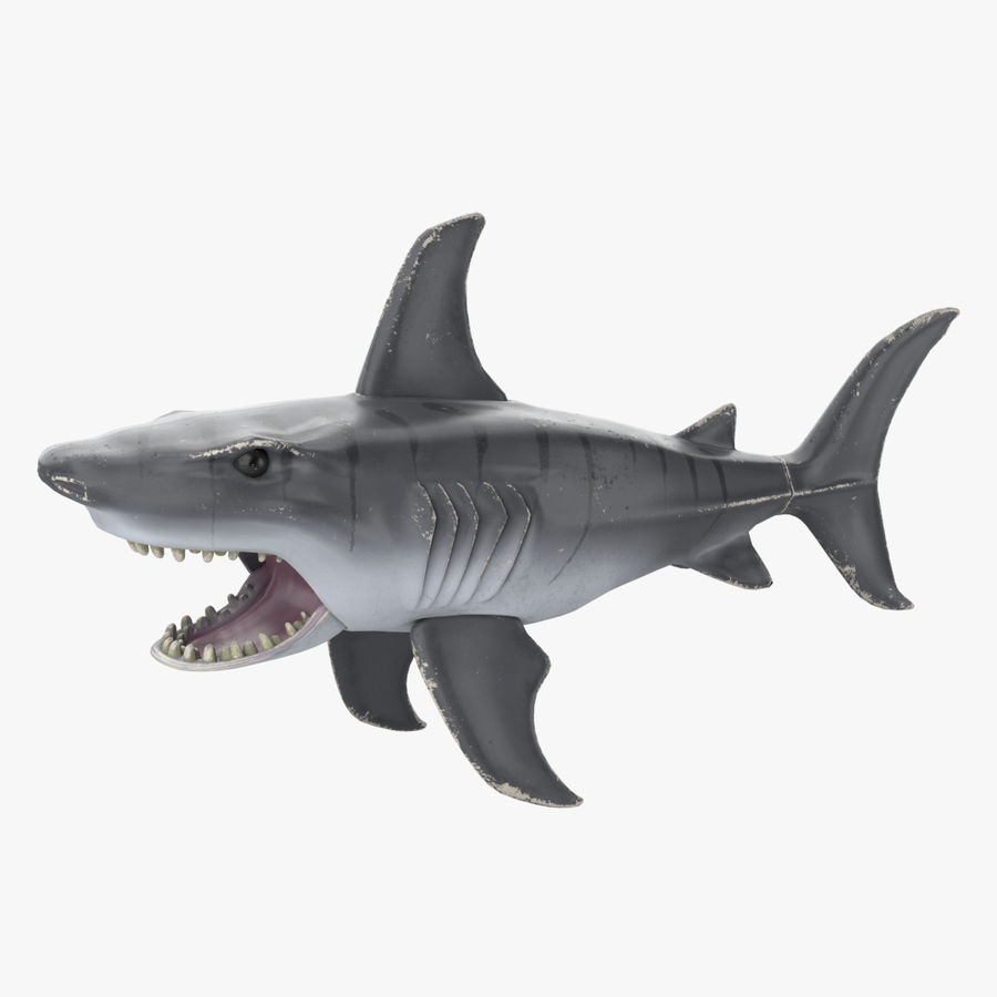 Toy Shark royalty-free 3d model - Preview no. 1