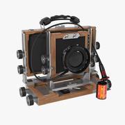 Macchina fotografica professionale vintage TFC617-A 3d model