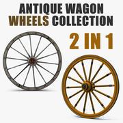 Coleção de rodas de vagão antigo 3d model
