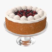 Gâteau aux baies 3d model