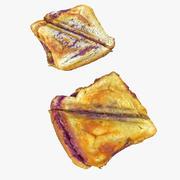 Gerçekçi pişmiş tatlı tost 3d model