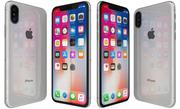 Apple iPhone X Plata modelo 3d