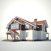 Two-storey cottage 3d model