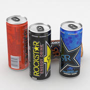 Beverage Can Rockstar Energy Drink Collection 250ml 3d model