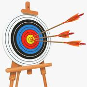 Target With Arrows 03 3d model