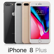 Apple iPhone 8 Plus All Colors 3d model