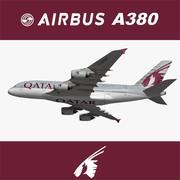 Airbus A380 Qatar Airways 3d model
