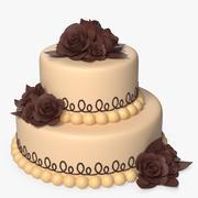 二段ケーキ 3d model