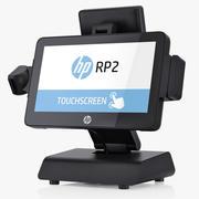 Système de vente au détail Hewlett Packard HP RP2 3d model