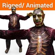 Zombie-Männchen manipulierter und animierter Charakter (1) 3d model