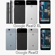 Colección completa de Google Pixel 2 y Pixel 2 XL modelo 3d