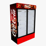 Coca-Cola Fridge Sliding Doors 3d model