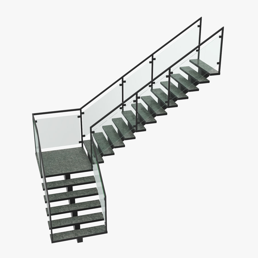 commercial staircase l shape 3d model 49 unitypackage upk c4d max ma obj free3d commercial staircase l shape 3d model