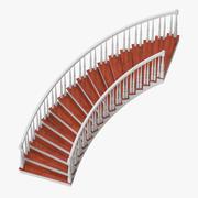 Scala residenziale curva 3d model