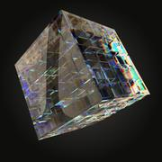 Optical Glass Sculptures qube 3d model