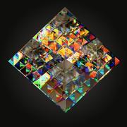 光学玻璃雕塑金字塔形 3d model