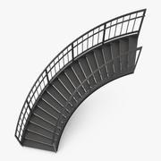 Scala esterna curva 3d model