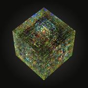 Optiska glaskulpturer qube 3d model