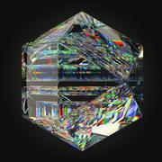 光学玻璃雕塑 3d model